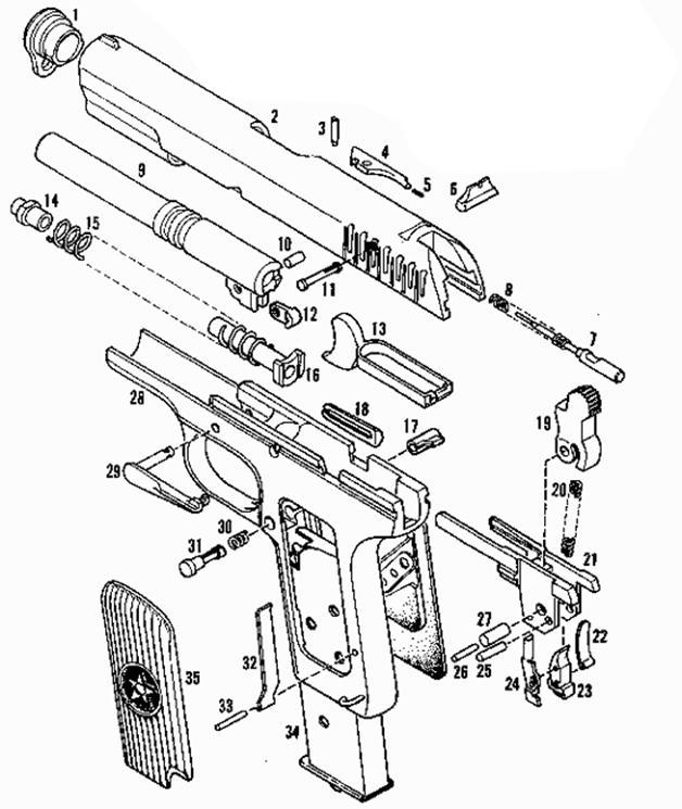 Полная разборка пистолета ТТ